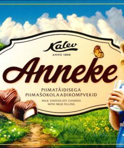 KALEV конфеты из молочного шоколада с начинкой АННЕКЕ 204гр