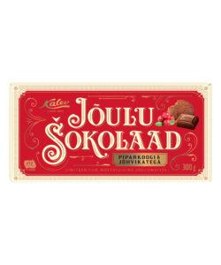 KALEV CHRISTMAS шоколад молочный ПЕЧЕНЬЕ и КЛЮКВА 300г