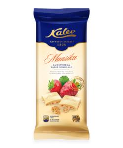 KALEV белый шоколад с ПЕЧЕНЬЕМ и КЛУБНИКОЙ