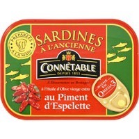 CONNÉTABLE сардины с перцем в оливковом масле экстра 115г