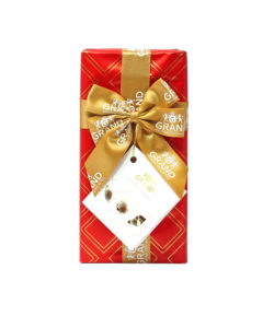 GRANDШоколадные конфеты Ракушки (красная упаковка с бантом) 250гх12шт (8159*)