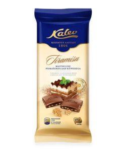 KALEV молочный шоколад с ТИРАМИСУ и ПЕЧЕНЬЕМ 100г