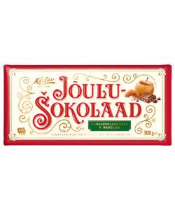 KALEV CHRISTMAS шоколад молочный ЯБЛОКО и МИНДАЛЬ 300г