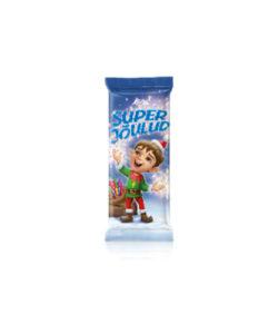 KALEV CHRISTMAS шоколад молочный с МАЛИНОВЫМИ КОНФЕТАМИ 100г
