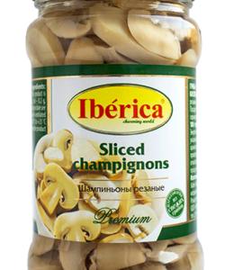 IBERICA шампиньоны резаные 314мл